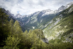 Valley of Soca river Stock Photography