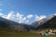 Valley at Sonamarg, Kashmir, India. On sunny day stock photos