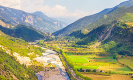 Valley in the South of France Royalty Free Stock Photos
