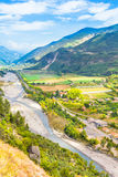 Valley in the South of France Stock Image