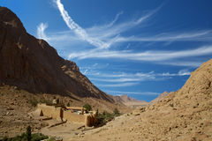 Valley of St Catherine's Monastery Royalty Free Stock Image
