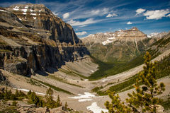 Valley of Stanley Glacier in Yoho National Park, Canada. The Valley of Stanley Glacier in Yoho National Park, Alberta, Canada royalty free stock photos