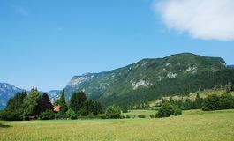Valley at Stara Fuzina Stock Images