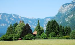Valley at Stara Fuzina, Slovenia Royalty Free Stock Photo