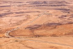 Valley in stone desert Negev Royalty Free Stock Photography