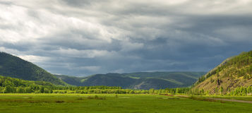 Valley before the storm Stock Photography