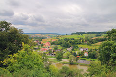 Valley before the storm subsides. Royalty Free Stock Photo