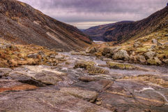 Valley Stream. HDR photo of a stream feeding Upper Lake in Glendalough Royalty Free Stock Images