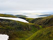 Valley stream on Novaya Zemlya (New Land) Royalty Free Stock Image