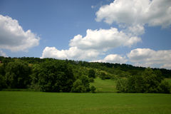 Valley in summer. In the German countryside royalty free stock images