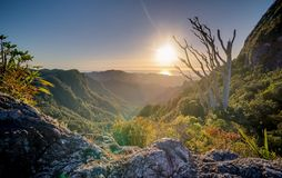 Valley Sunset Hills Mountains Royalty Free Stock Photos