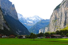 A Valley in Switzerland Royalty Free Stock Image