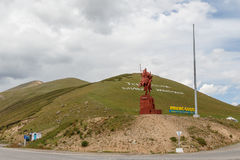 Valley Talas, Kyrgyzstan - August 15, 2016: Monument to Manas. Valley Talas Kyrgyzstan - August 15, 2016: Monument to Manas stock photography