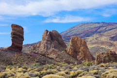 Valley of Teide,  Tenerife, Spain Royalty Free Stock Image