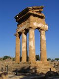 Valley Of Temples. Ruins of a greek temple, simbol of Agrigento, Sicily Royalty Free Stock Images