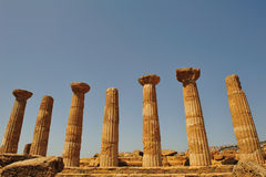 Valley of the temples in agrigento Royalty Free Stock Photo
