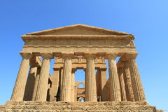 Valley of Temples in Agrigento Stock Photo
