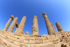 Valley of Temples in Agrigento Stock Images