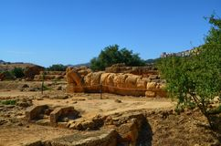 Valley of Temples Agrigento, Italy, Sicily. Valley of Temples Agrigento, Italy, Sicily August 18 2015. The Valley of the Temples of Agrigento, UNESCO heritage Royalty Free Stock Photo