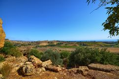 Valley of Temples Agrigento, Italy, Sicily. Valley of Temples Agrigento, Italy, Sicily August 18 2015. The Valley of the Temples of Agrigento, UNESCO heritage Royalty Free Stock Photos
