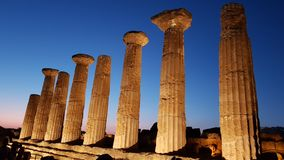 Valley of the temples, Temple of Heracles Dorian royalty free stock image