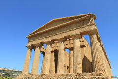 Valley of Temples in Agrigento, Sicily Stock Images