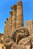 The Valley of the Temples in Agrigento, Sicily, Italy Royalty Free Stock Image