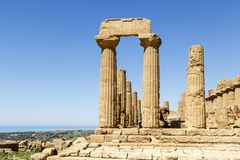 Valley of the Temples, Agrigento, Sicily, Italy Royalty Free Stock Images