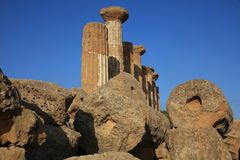 Valley of Temples in Agrigento. The Valley of Temples in Agrigento. Sicily Stock Images
