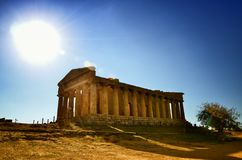 The Valley of the Temples is an archaeological site in Agrigento, Sicily, Italy. Stock Photos