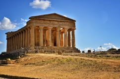 The Valley of the Temples is an archaeological site in Agrigento, Sicily, Italy. Stock Photography