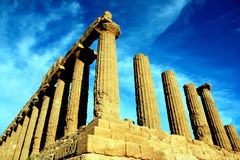 Valley of the temples greek ruins, Agrigento Italy Royalty Free Stock Photography