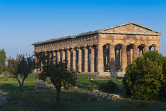 Valley of the Temples of Paestum Stock Photo