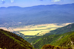 Valley of the Thrace from the high mountains Royalty Free Stock Photos