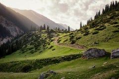 Valley in Tian Shan mountain, Kyrgyzstan Stock Photos