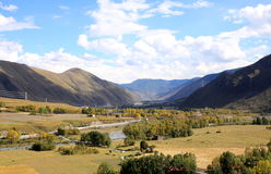 Valley in Tibetan plateau Royalty Free Stock Photography