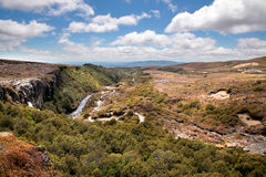 Valley in the Tongariro National Park Royalty Free Stock Photography