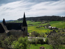 Valley at Turenne royalty free stock images