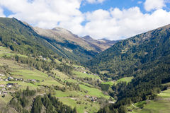 Valley in Tyrol. Typical valley in the mountains of Tyrol, Austria royalty free stock images