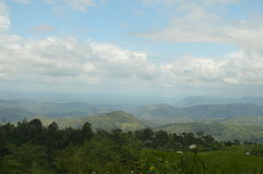 Valley. In upcountry in  Sri Lanka Royalty Free Stock Photo
