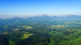 Valley with Urkiola mountain range in Basque Country Royalty Free Stock Images