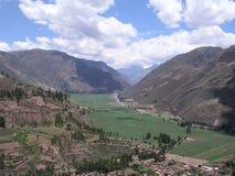 Valley Urubamba. Famous tourist destignation Urubamba Valley in Peru seen from the hill Stock Image