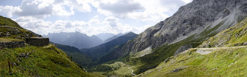 The Valley Val Visdende from the Tilliacherjoch Royalty Free Stock Photography