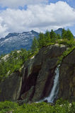 Valley of Vannino, Piedmont - Italy. Suggestive waterfall in the Valley of Vannino, Piedmont - Italy Stock Photography