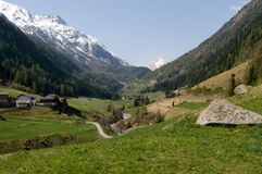 Valley of Vent, Austria. Valley of Vent in Tyrol, Oetztal, Austria Royalty Free Stock Photo