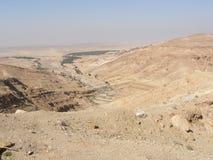 Valley view. Over Tunisian mountains Royalty Free Stock Photos