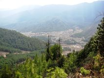 Valley View. The view over paro valley in bhutan Stock Image