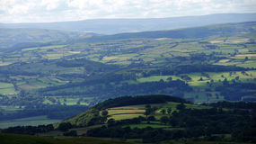 Valley view near Hay on Wye Stock Photo