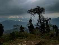 Valley view point. Travel, travelling, destination, tourism, tourist, tree, cloudy, hill, busy, highland stock photos