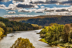 In The Valley. A view of the river running through a valley in upstate New York Stock Images